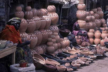 Pottery at St Louis market