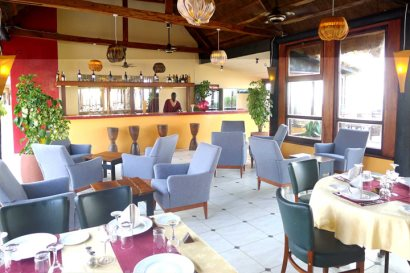 The Brasserie restaurant and wine bar at Kombo Beach Hotel
