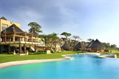 Infinity pool at Sheraton Gambia Hotel