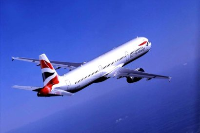 BA flights A321 in flight