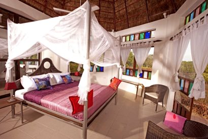 Interior of new Mangrove Lodge at Mandina
