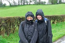 India and Peta walk Hadrians Wall