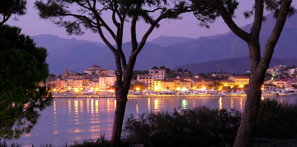 St Florent across the bay by night