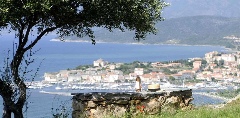 View of St Florent and Bay