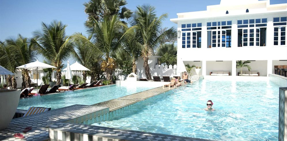 Coco Ocean tiered swimming pool, Bijilo, The Gambia