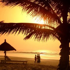 Sunset on Kotu Beach, Kombo Beach Hotel