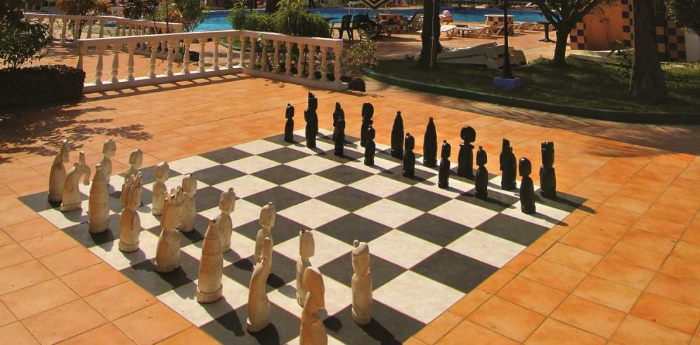 Giant chess at Palma Rima Hotel