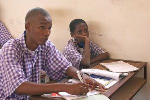 Children at school in The Gambia