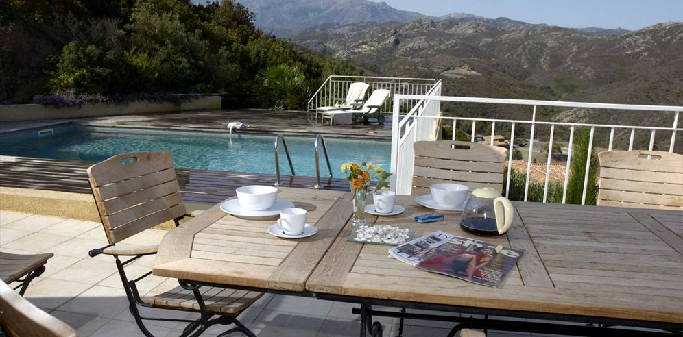 Breakfast on the Terrace - Villa Cléa - St Florent & the North East