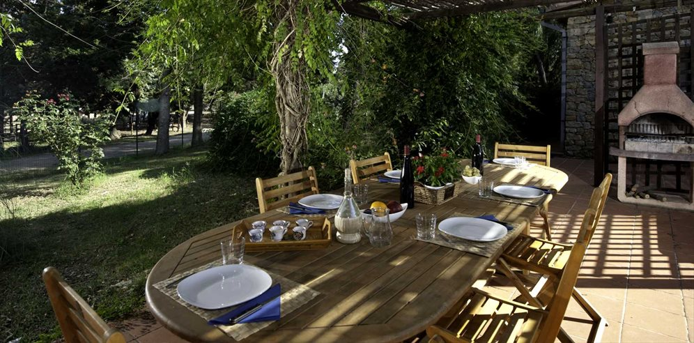 Outside Dining/BBQ Area in Casetta Fiordaliso, at Villas Santa Caterina