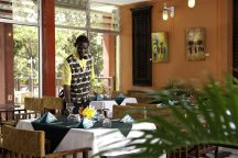 Buffet restaurant at the Senegambia Hotel