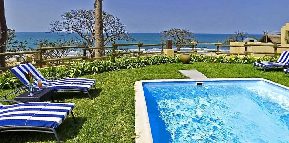 Clifftop Spa pool at Coral Beach Resort & Spa, Brufut, The Gambia