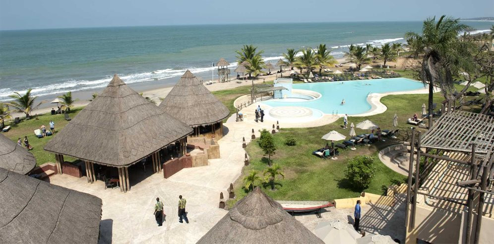 Aerial View of Gambia Coral Beach Hotel & Spa, Brufut, The Gambia