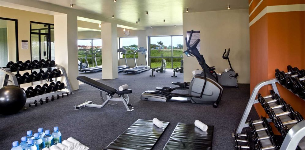 Fitness room at the Sheraton Gambia Hotel