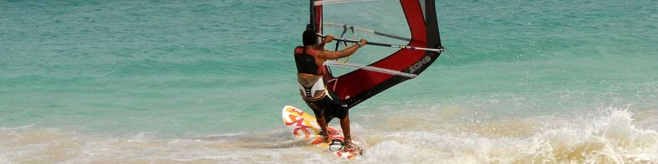 Windsurfing on Sal