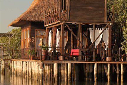 Stilted lodge at Mandina