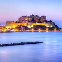 The evening lights of Calvi