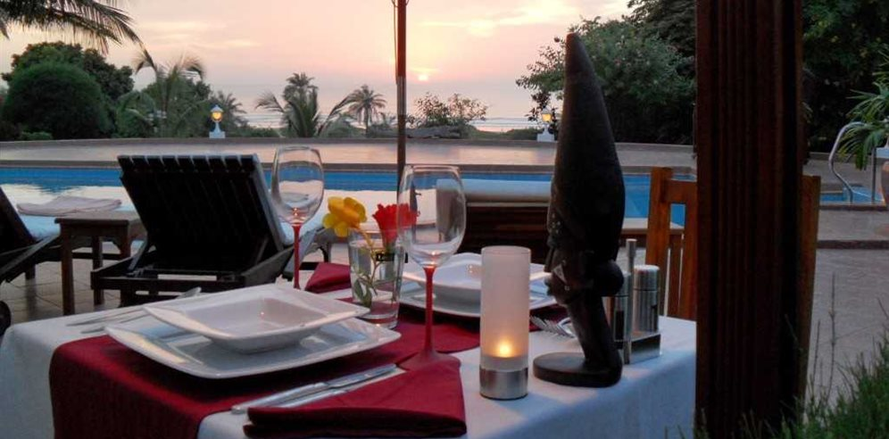 Dining at White Horse Residence, Batokunku, The Gambia