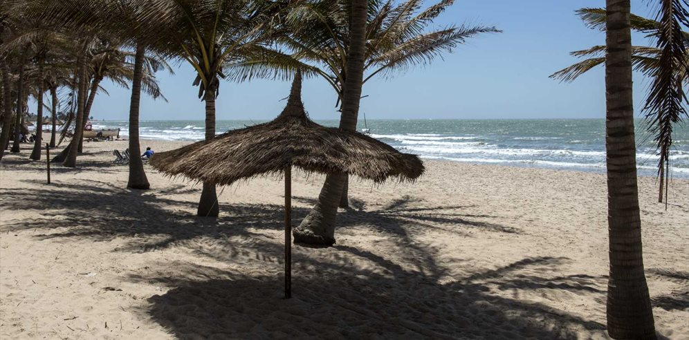 Beach at Bungalow Beach Aparthotel, Kotu, The Gambia