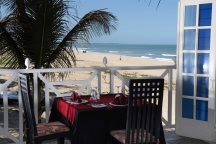 Beachside dining at Coco Beach restaurant, Bijilo, The Gambia