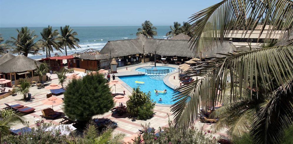 Swimming pool and terraces at Kombo Beach Hotel