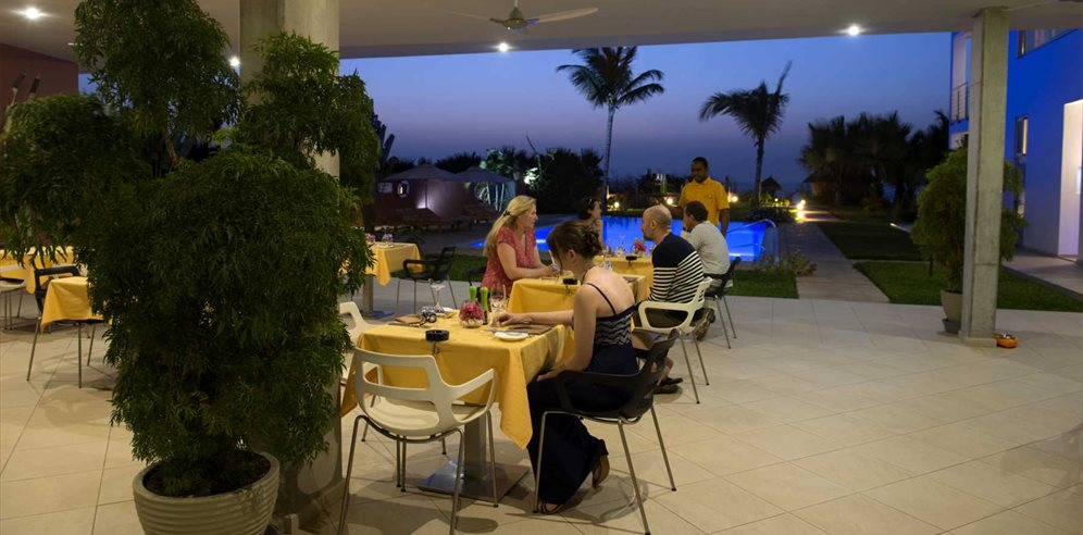 Restaurant at Leo's Beach Hotel, Brufut, The Gambia