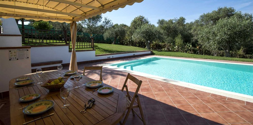 Shaded Terrace  and Pool - Casa Angelica