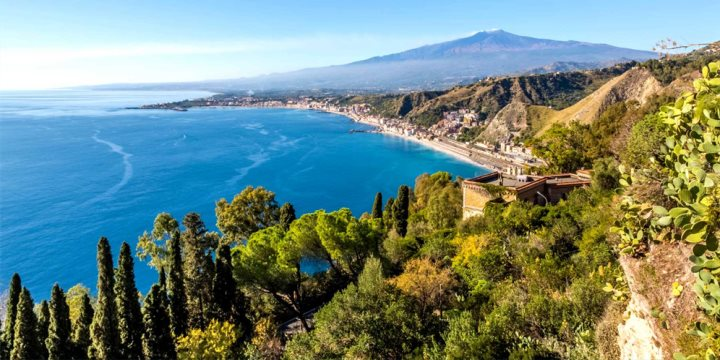 Giardini Naxos and Mount Etna Views - K. Roy Zerloch  |  Shutterstock