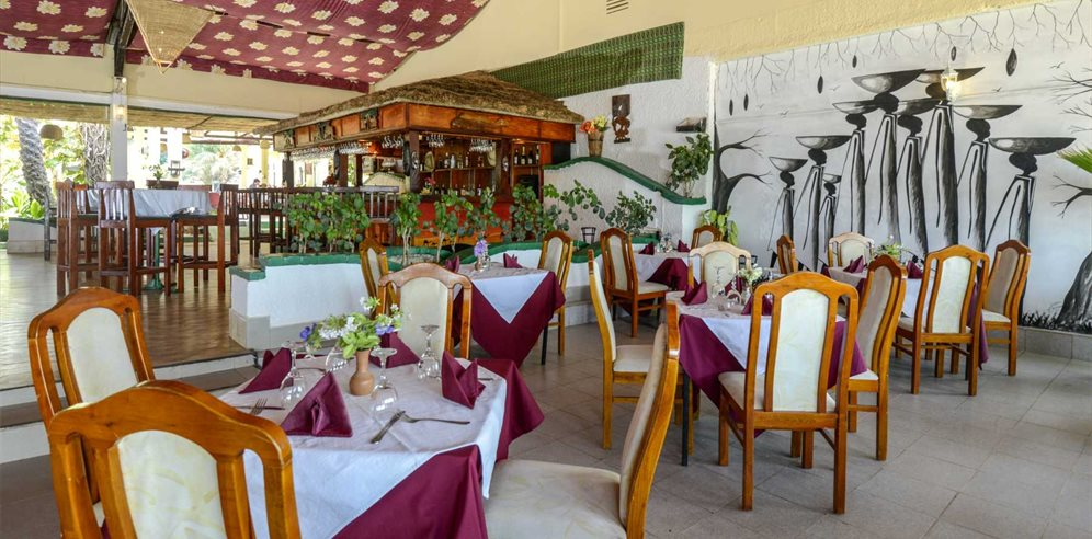 Restaurant at African Village, Bakau, The Gambia