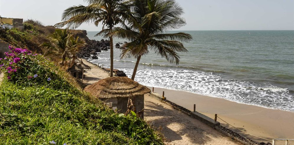 The coastline at African Village, Bakau, The Gambia