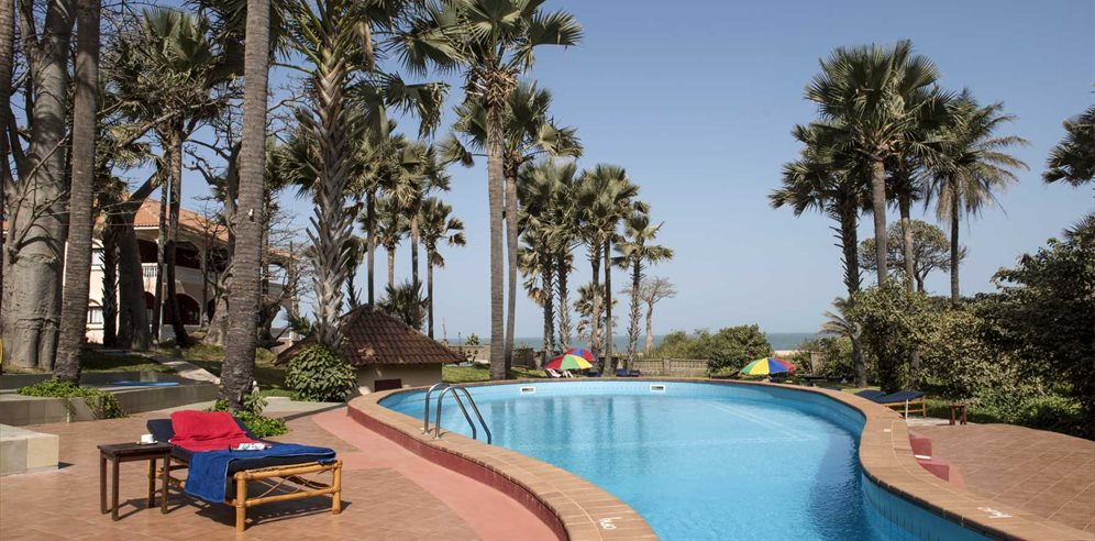 Swimming pool at Lemon Creek Hotel, Bijilo, The Gambia
