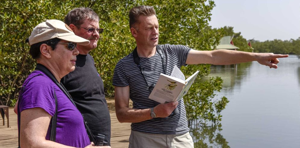 Birdwatching with Chris Packham at Mandina
