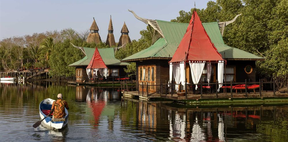 The floating lodges