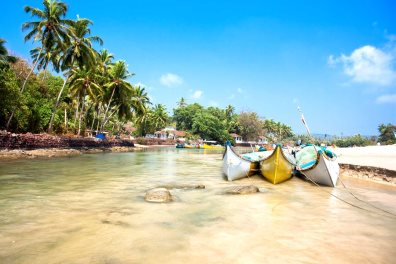 Baga creek with wooden outrigger fishing boats - Aleksandar Todorovic