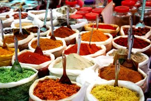 Variety of spices at Anjuna flea market - joy_stockphoto