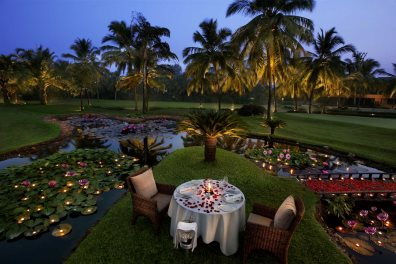 Romantic dining at The Leela, Mobor, South Goa