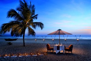 Romantic Dining on Mobar Beach, The Leela, Mobor, South Goa