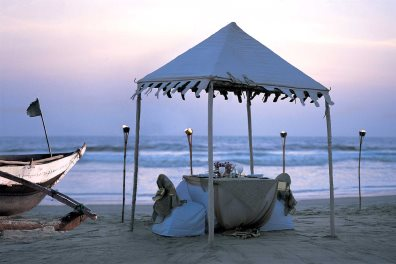 Private Dining on the Beach, Taj Exotica, Benaulim, South Goa
