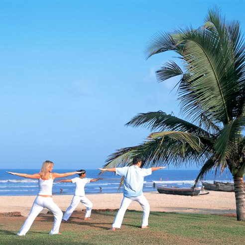 Yoga at the Taj Exotica, Benaulim, South Goa