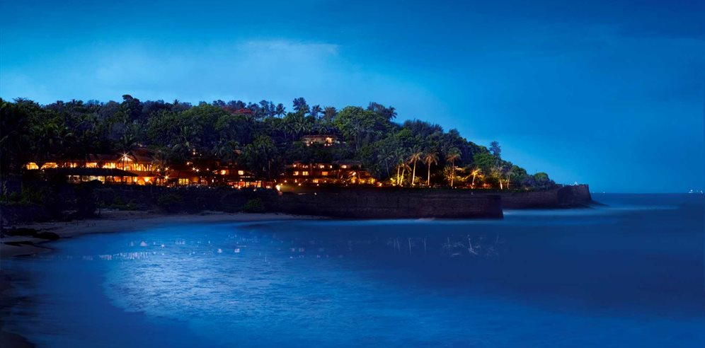 Night view of Vivanta by Taj Fort Aguada, Sinquerim, North Goa