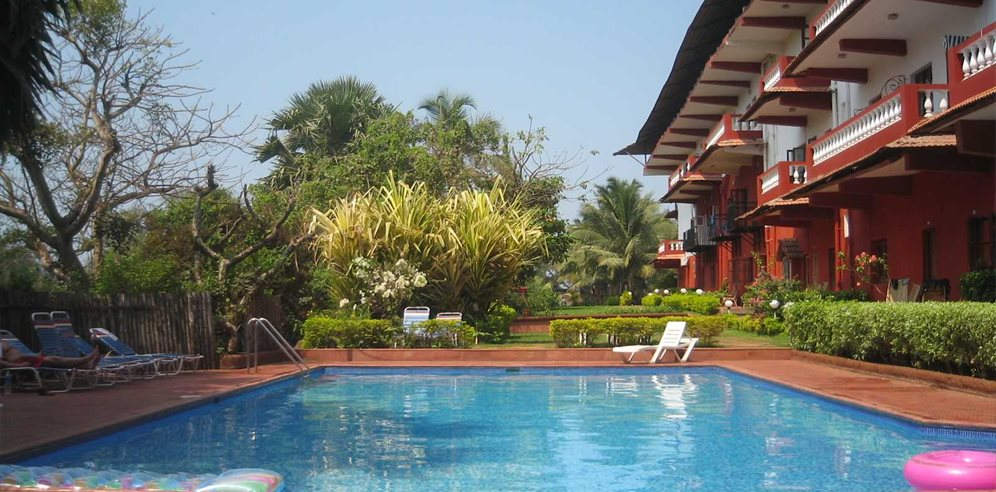 Swimming pool at Chalston Beach Resort, Calangute, North Goa