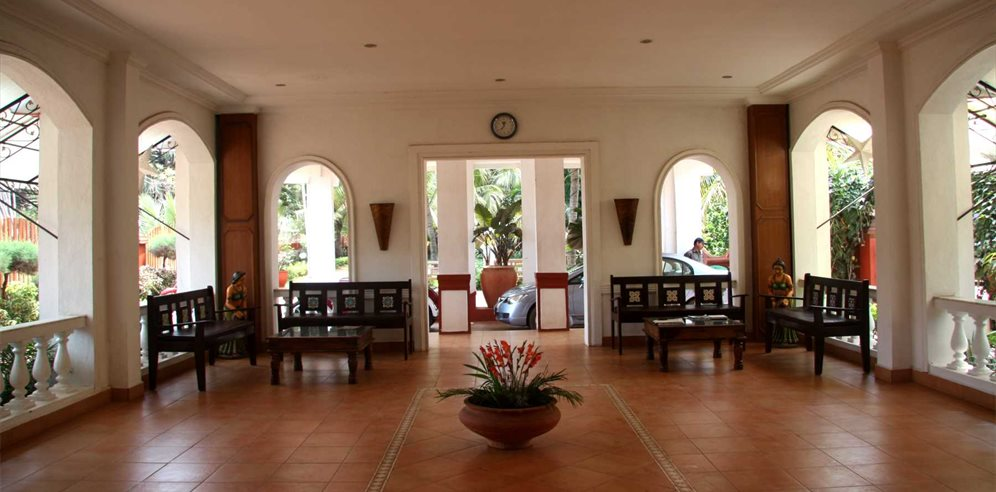 Reception area at Chalston Beach Resort, Calangute, North Goa