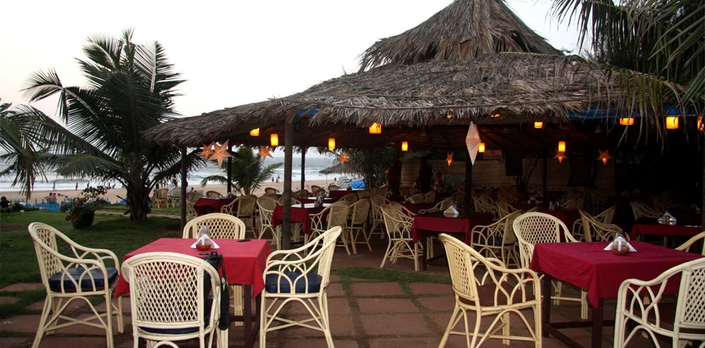 Beachfront restaurant at Chalston Beach Resort, Calangute, North Goa