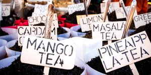 different sorts of tea sold at Anjuna weekly market  - Popova Tetiana