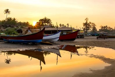 Fishing boats on Arambol beach - GlebStock