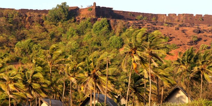 View of Chapora Fort and Vagator beach - Katoosha