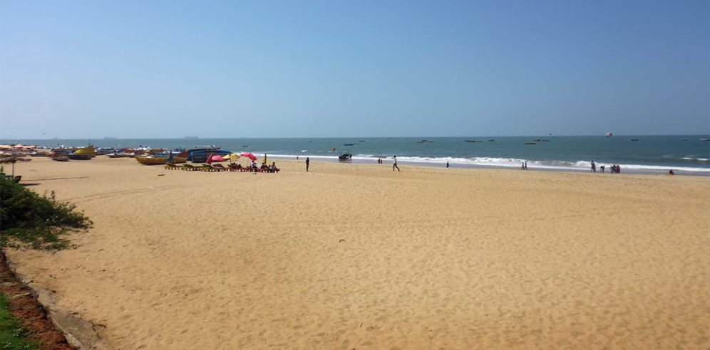 Calangute beach at Chalston Beach Resort, North Goa