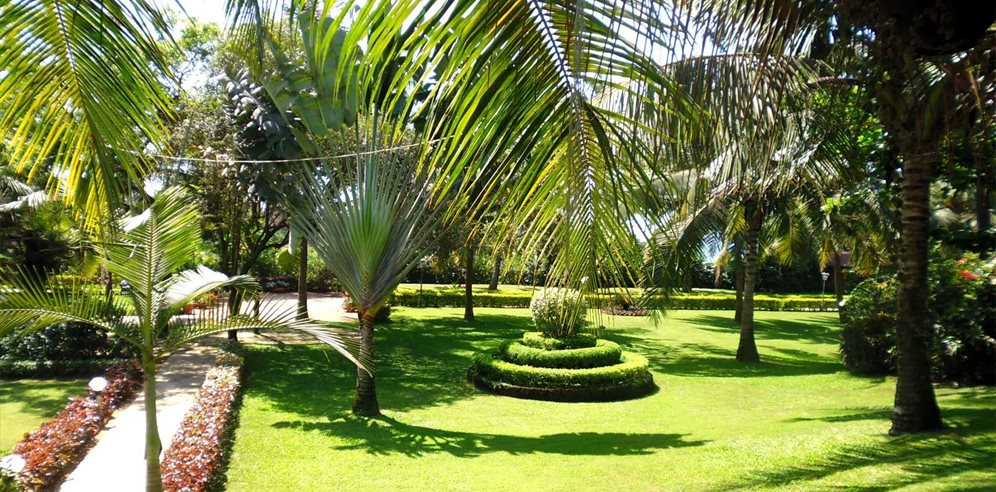 Manicured Gardens at the Chalston Beach Resort, Calangute, North Goa