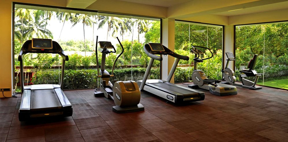 Gym room at Alila Diwa, Majorda, South Goa