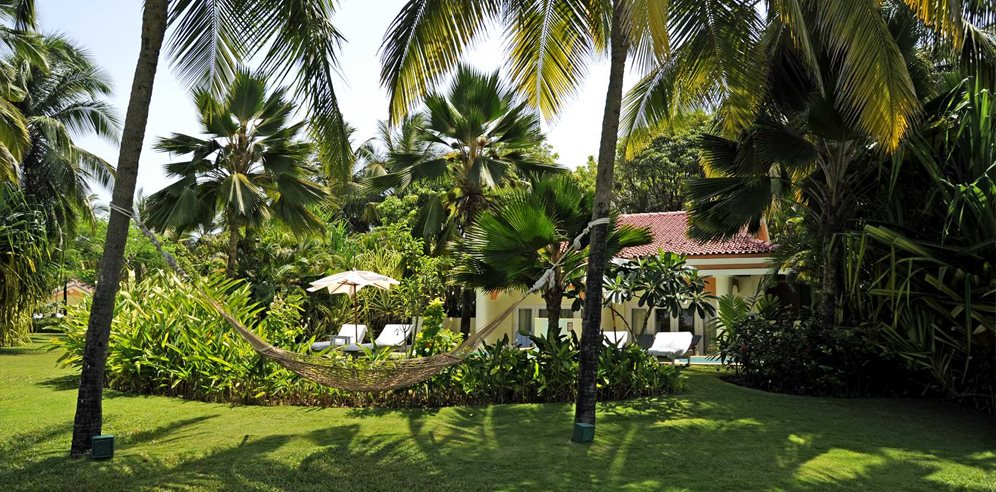 Peaceful Grounds at Taj Exotica, Benaulim, South Goa